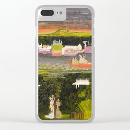 Radha and Krishna in the boat of love, 1755 Clear iPhone Case
