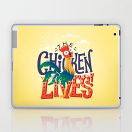 The Chicken Lives Laptop & iPad Skin