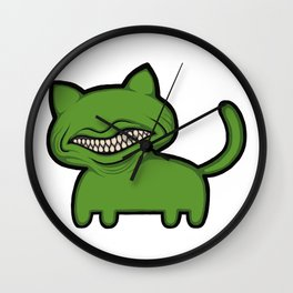 toothcat (grn) Wall Clock