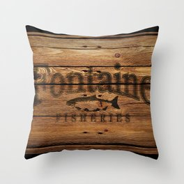 Fontaine Fisheries Crate Throw Pillow