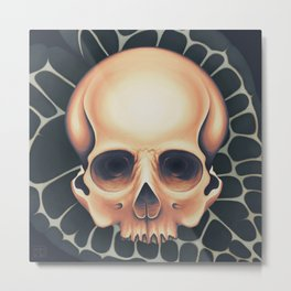 Iridescent Skull Metal Print