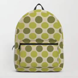 Vintage green circles retro pattern Backpack