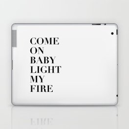 Light My Fire [white] Laptop & iPad Skin
