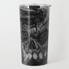 Charcoal Skull Of Death Travel Mug