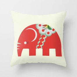 Swedish Elephant Throw Pillow