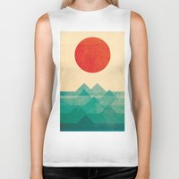 is the new black Biker Tanks featuring The ocean, the sea, the wave by Picomodi
