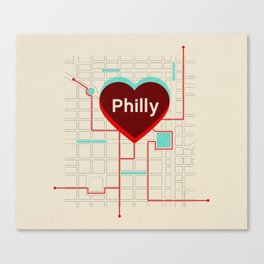 Philly In Transit Canvas Print