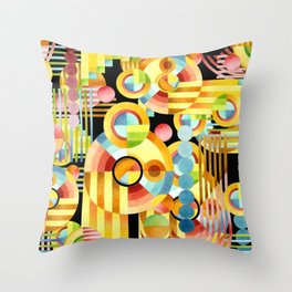 Art Deco Maximalist Throw Pillow
