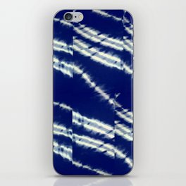 blue tie dye iPhone Skin