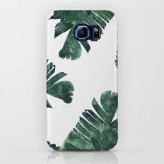 Banana Leaf Watercolor #society6 #buy #decor Slim Case Galaxy S8