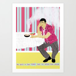 The Thinker II Art Print