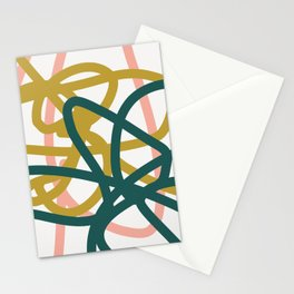 Abstract Lines 02A Stationery Cards