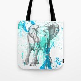 Graphite Elephant Tote Bag