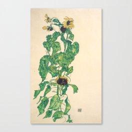 """Egon Schiele """"Sonnenblumen"""" Canvas Print"""