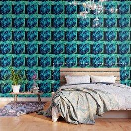 GALAXY. Teal Aqua Stars Wallpaper