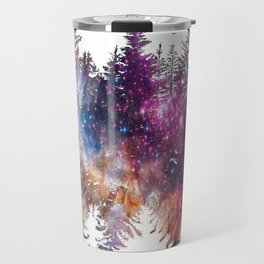 Starry Trees Forest Travel Mug