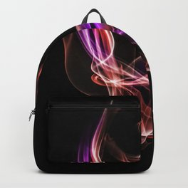 Smoke creations - red and violet Backpack