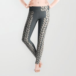 Cable Knit Grey Leggings