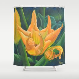 FIORI DI ZUCCA Shower Curtain