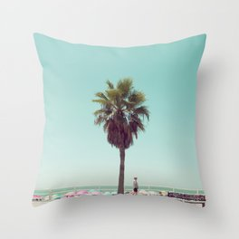 Just Another Summer Postcard Throw Pillow