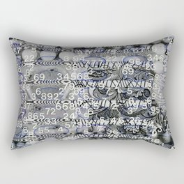 Post Digital Tendencies Emerge (P/D3 Glitch Collage Studies) Rectangular Pillow