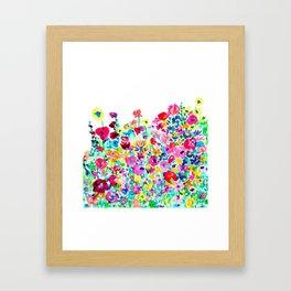 Flower Fields Pink Framed Art Print