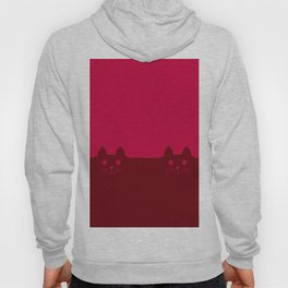 Meow Cat Red Pink Hoody