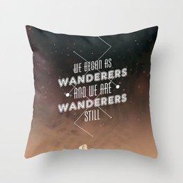 Wanderers - MSL/Curiosity Commemoration Print Throw Pillow