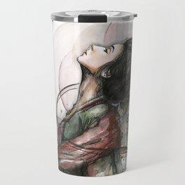 Beauty Illustration Beautiful Woman Feminine Portrait Travel Mug