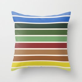 The colors of - Castle in the sky Throw Pillow
