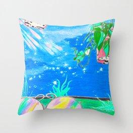 Pastel Night Throw Pillow