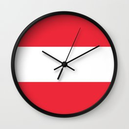 Flag of Austria -  authentic version (High quality image) Wall Clock