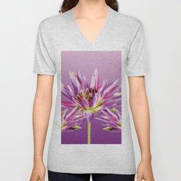 Lotos Flowers violet II Unisex V-Neck
