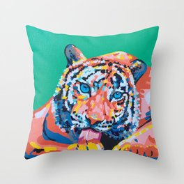 Wild Tiger Throw Pillow