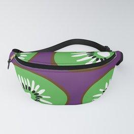 Bright Purple and Green Kiwifruit Pattern Fanny Pack