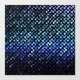 Crystal Bling Strass Blue G312 Canvas Print