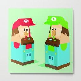 Mario Bros. Arcade Metal Print