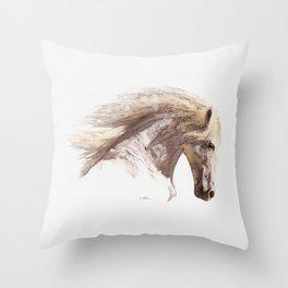 Silverwind - A Pegasus Stallion Study Throw Pillow