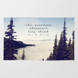 the greatest adventure- mountains Rug