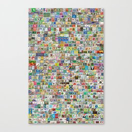 Soccer Stamps Canvas Print