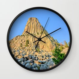 Devils Tower 2 Wall Clock