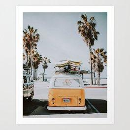 lets surf / venice beach, california Art Print