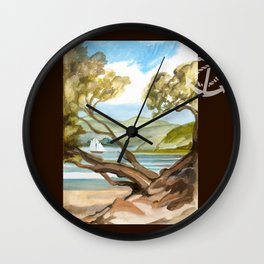 Summer At Coopers Beach Wall Clock