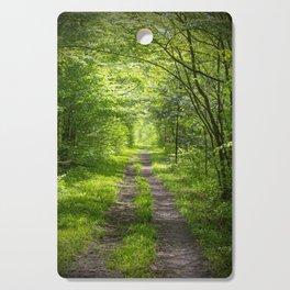 Trail Through Green Woods Cutting Board