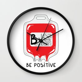 Be positive Wall Clock