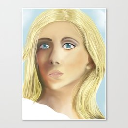 Blonde with Blue Eyes Canvas Print