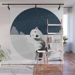 Unique Polar Bear Scene Wall Mural