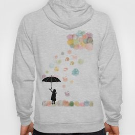 Colorful snow in Winter Hoody