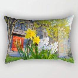 Daffodils and Dilapidation Rectangular Pillow