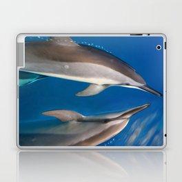 Dolphin Bubbles Laptop & iPad Skin